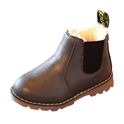 Baby's Boy's Girl's Waterproof Side Zipper Short Ankle Boot