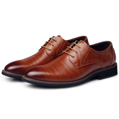 DADAWEN Men's Classic Modern Lace Up Wingtip Dress Oxfords Shoes