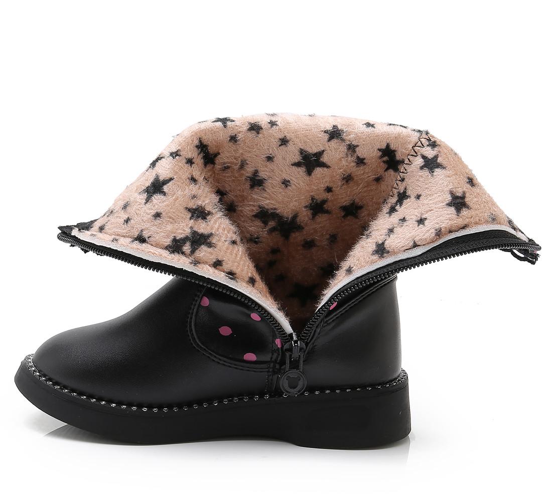 Toddler//Little Kid//Big Kid DADAWEN Girls Waterproof Rhinestone Butterfly Side Zipper Fur Lined Tall Winter Snow Boots