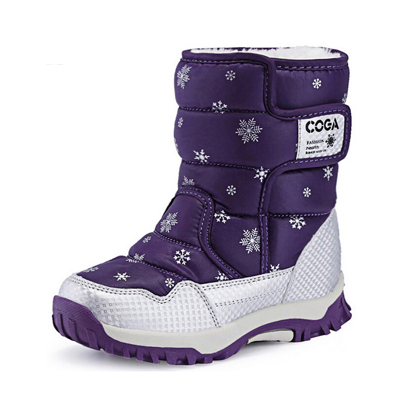 Boy's Girl's Outdoor Waterproof Cold Weather Snow Boots